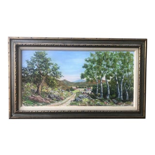 California Spring Landscape by Henry Cradoct 1967 For Sale