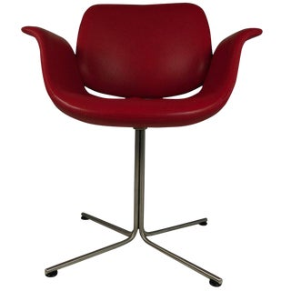 Foersom & Hjorth-Lorenzen Red Leather Flamingo Armchair For Sale