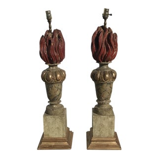 18th Century Italian Fragment Lamps - A Pair