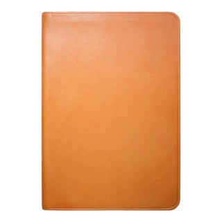 Small Flexible Cover Journal, Calfskin Book in British Tan For Sale