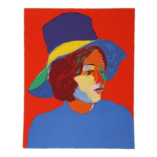 John Grillo, Girl With Hat IV Serigraph For Sale