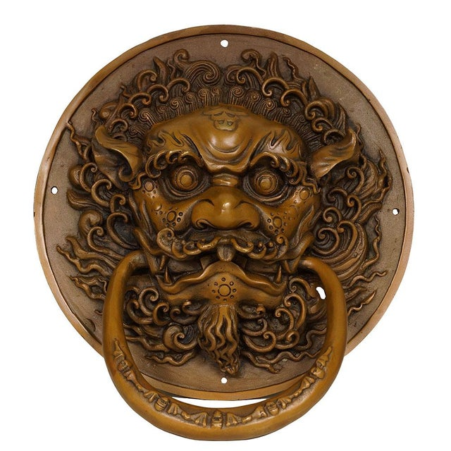 This Chinese old fashion Foo Dog doorbell is another treasures from our collections. The Foo Dog is used in Chinese...