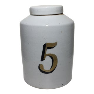 Vintage Style Ceramic Tea Jar For Sale