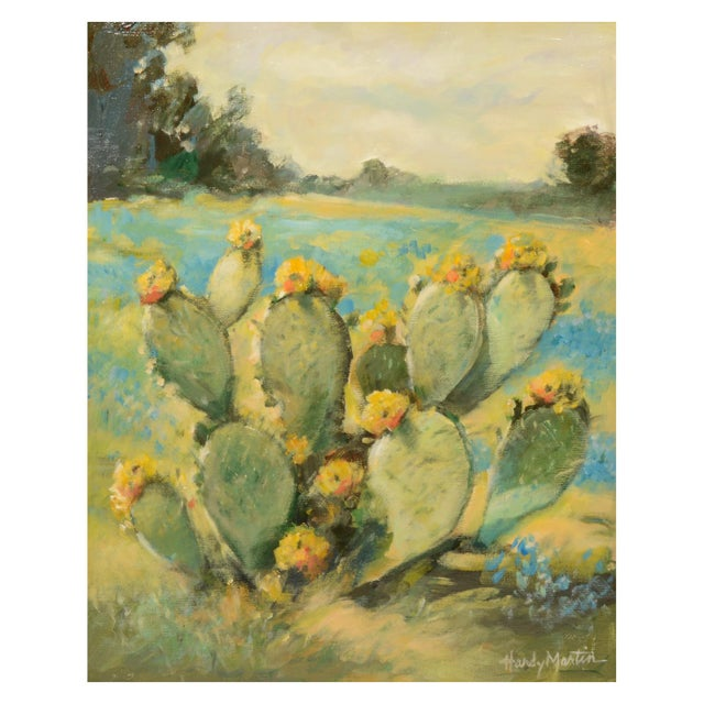 Rustic Salinas Cactus Framed Painting For Sale - Image 3 of 6