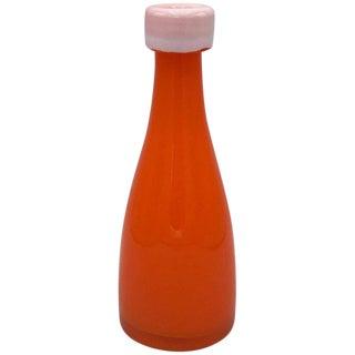 1970s Italian Murano Glass Bottle Vase For Sale