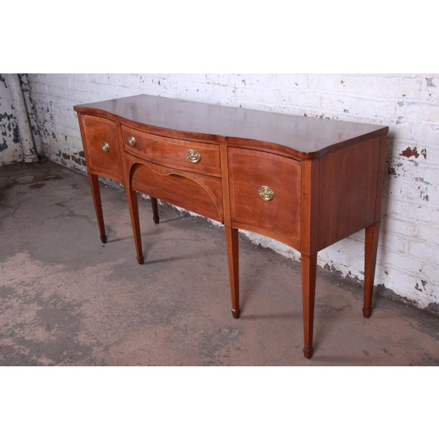 Kittinger Inlaid Mahogany Sideboard Credenza For Sale - Image 13 of 13