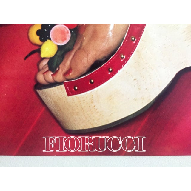 """Fiorucci Rare Original Vintage 1978 """" High Heels """" New Wave Italian Fashion Collector's Lithograph Print Pop Art Poster For Sale - Image 10 of 13"""