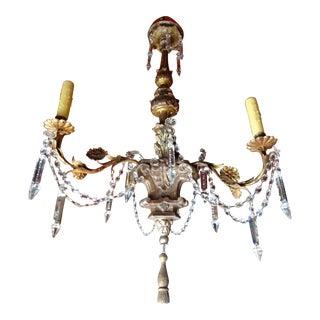 19th Century Italian Crystal Chandelier For Sale