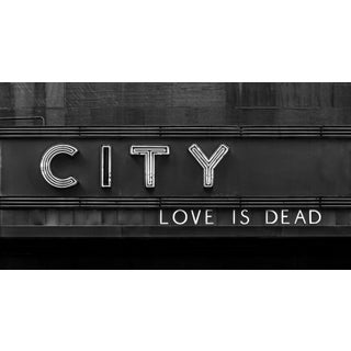 """""""Love Is Dead - New York City"""" Contemporary Black and White Photograph For Sale"""