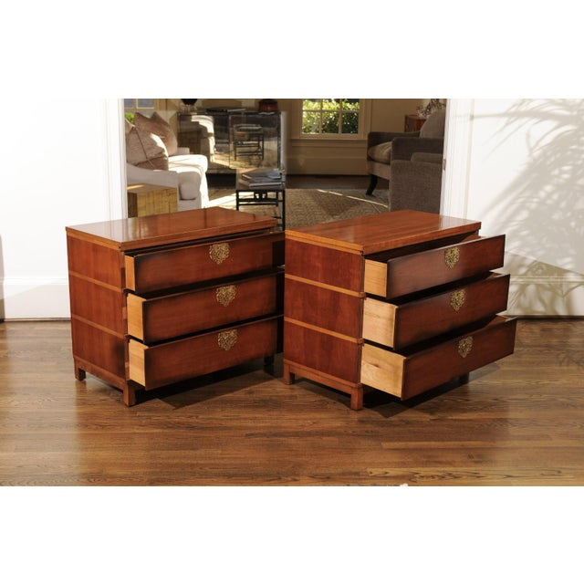 Chic Restored Pair of Michael Taylor Style Chests, Circa 1957 For Sale - Image 10 of 13