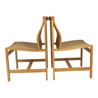 1980s Rud Thygesen and Johnny Sorensen King Series Birch Chairs - a Pair