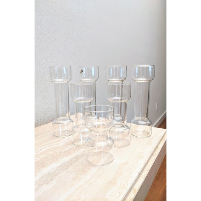1970s Minimalist Modernist Pyrex Vases by Creative Glass - Set of 7 For Sale - Image 5 of 9
