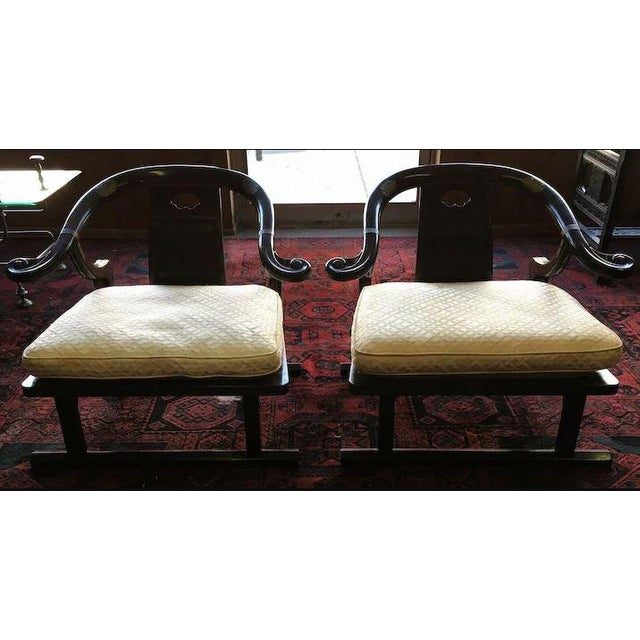 Asian Baker Furniture Far East Collection Arm Chairs #2510 by Michael Taylor - a Pair For Sale - Image 3 of 11