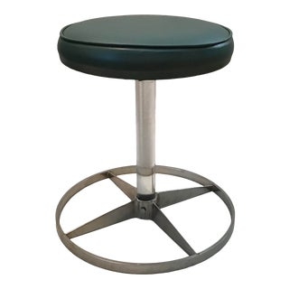 Vintage Mid Century Modern Lucite Chrome Stool For Sale