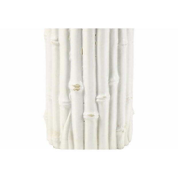 Mid-Century Modern Italian Rosenthal Netter Ivory Bamboo Vase For Sale - Image 3 of 6