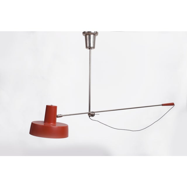 Mid-Century Modern 1950s Mid-Century Modern Swing Arm Ceiling Light For Sale - Image 3 of 9