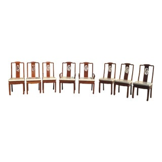 8 Chinese Huali Rosewood Dining Chairs For Sale