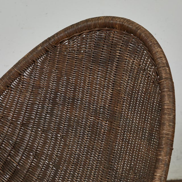 Boho Chic Mid-Century Bamboo and Rattan Chairs From France - a Pair For Sale - Image 3 of 11