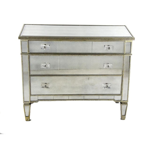 20th Century French 3-Drawer Mirrored Commode For Sale - Image 13 of 13