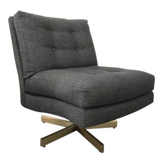 Milo Baughman 1969 Steve Spinner Swivel Lounge Chair For Sale