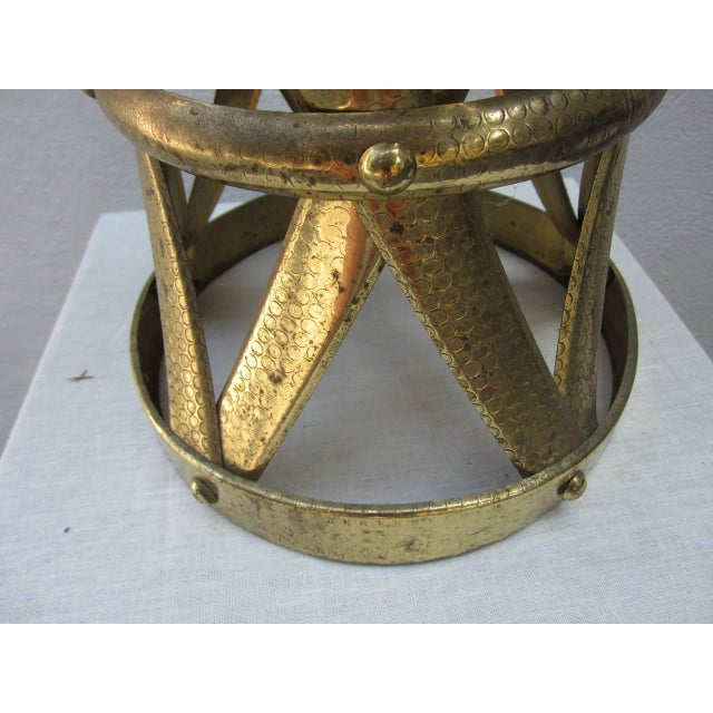 Modern Modern Brass Stool or Table For Sale - Image 3 of 6