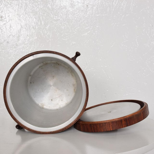 Modern Mid-Century Modern Rosewood Ice Bucket For Sale - Image 3 of 11