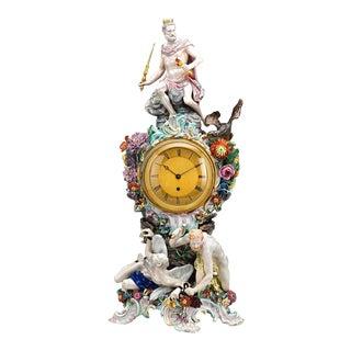 Prometheus Porcelain Mantle Clock by Meissen