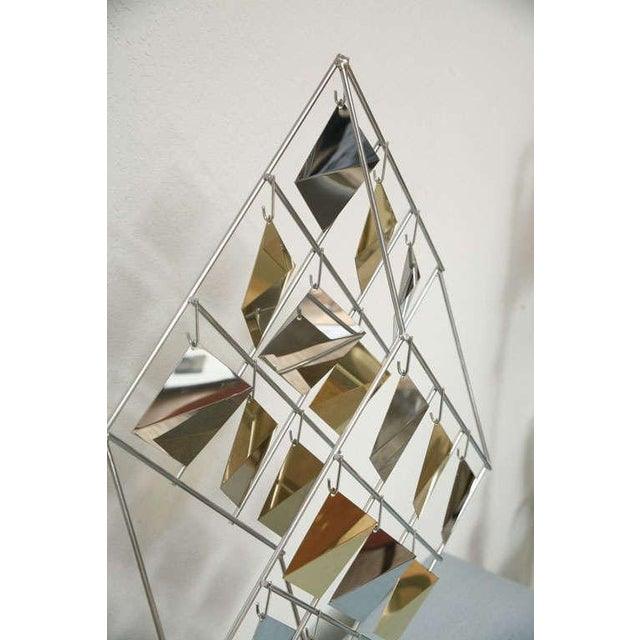 Hollywood Regency Brass and Chrome Sculpture by Curtis Jere For Sale - Image 3 of 11
