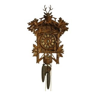 19th Century Antique Black Forest Cuckoo Clock For Sale