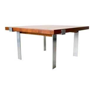 1960s Mikael Laursen for Illum Wikkelso Teak and Steel Coffee Table For Sale