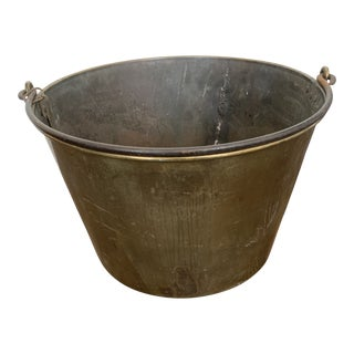 Early 20th Century Brass Cauldron For Sale