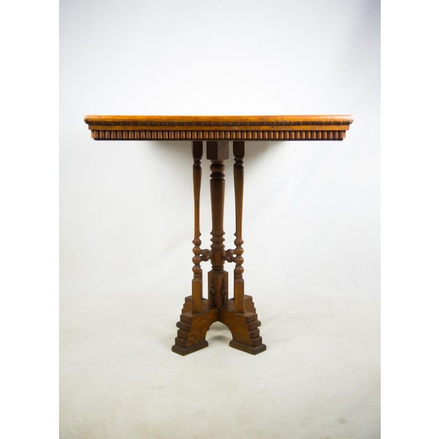 19th C. Victorian Parlor Game Table For Sale - Image 4 of 11