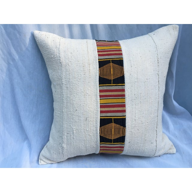 African Mud Cloth Pillow - Image 5 of 5