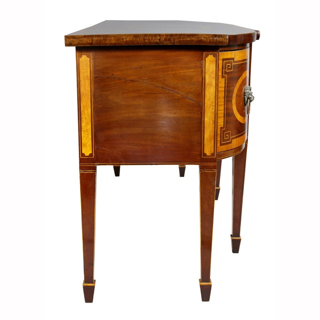 George III Mahogany and Satinwood Sideboard For Sale - Image 9 of 12