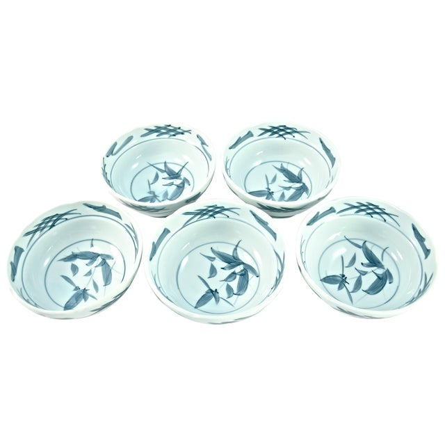 Blue & White Chinoiserie Bowls - Set of 5 - Image 1 of 5