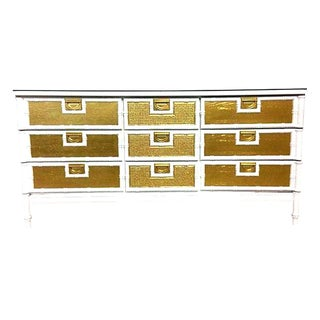 20th Century Campaign Style Lacquered Chest of Drawers For Sale
