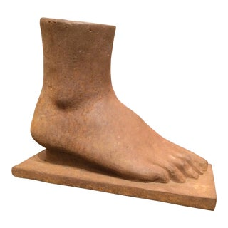American Folk Art Cast Iron Foot For Sale