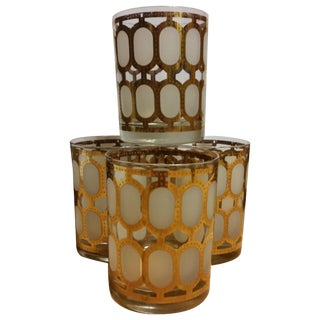 Cera Glass Old Fashioned Tumblers - Set of 4 For Sale