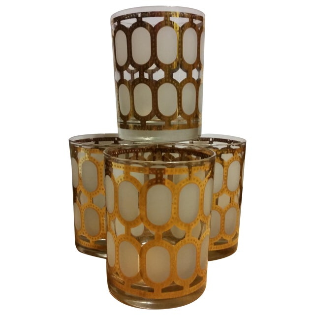 Cera Glass Old Fashioned Tumblers - Set of 4 - Image 1 of 8