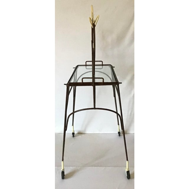 1950's Horse Pony Rolling Serving Bar Cart By Frederick Weinberg For Sale In Greenville, SC - Image 6 of 13