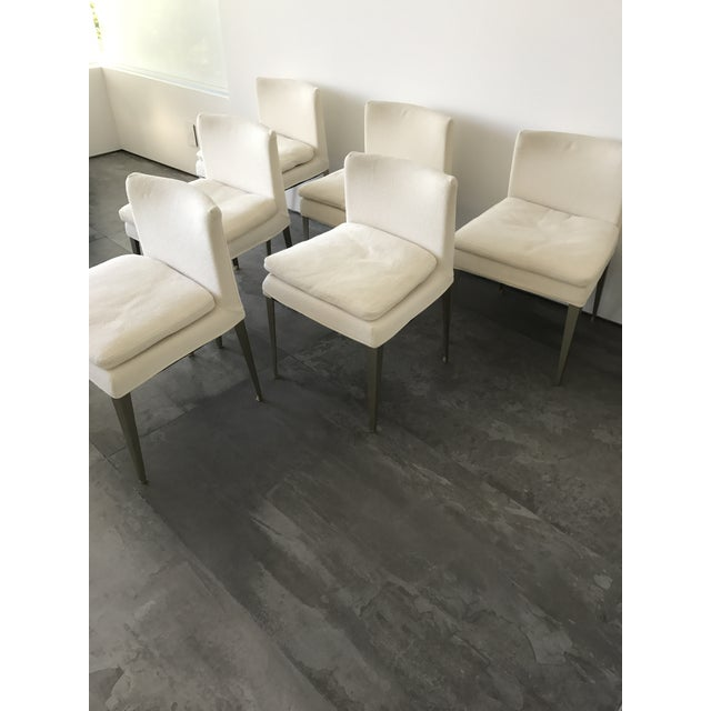 Modern B&b Maxalto Eunice Dining Chairs - Set of 6 For Sale - Image 3 of 6