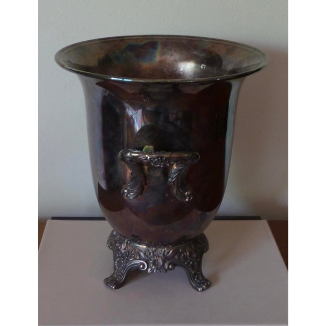 Traditional Vintage Silver Plate Champagne Bucket For Sale - Image 3 of 9
