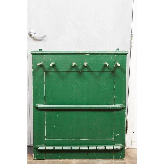 A unique Horse Tac Rack for Horse Tackle gear. A vibrant green paint that shows wear with age. Can be used for anything,...