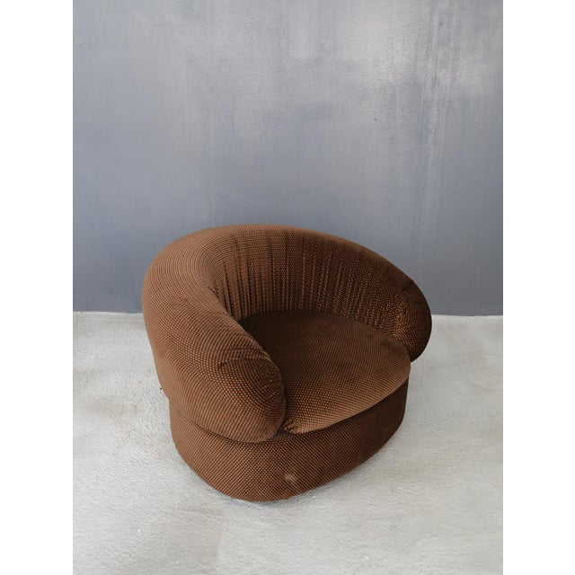 Brown 70's Modular Corner Sofa With Armchair. For Sale - Image 8 of 9