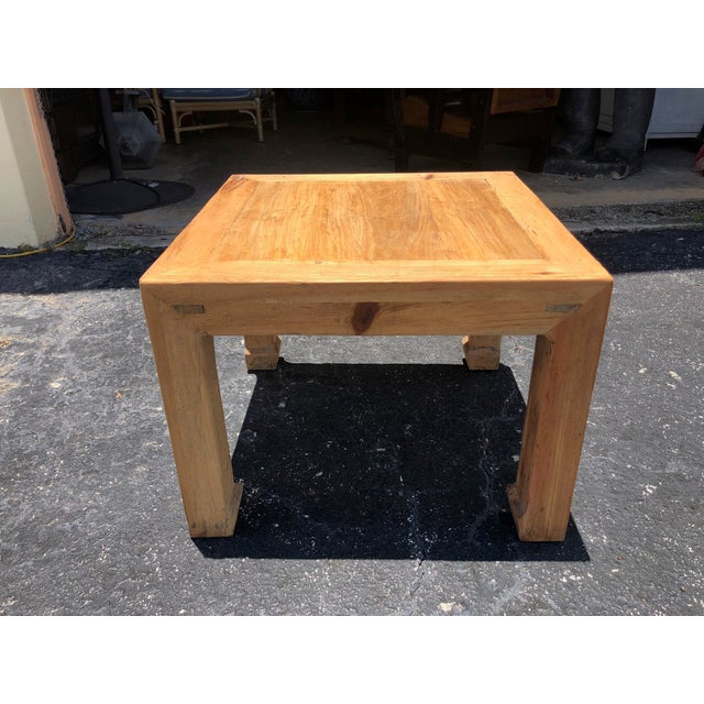 Ming Natural Elm Side Table For Sale In West Palm - Image 6 of 6