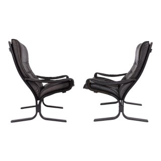 """Ingmar Relling """"siesta"""" Lounge Chair & Ottoman - Pair, Norway Ca. 1960's For Sale"""