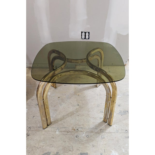 1980s Hollywood Regency Brass Coffee Table For Sale In Portland, ME - Image 6 of 6