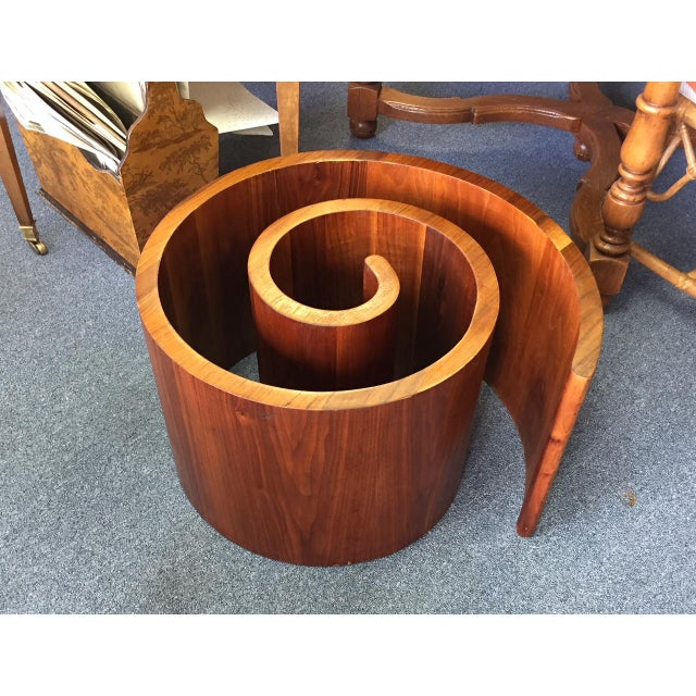 1960s 1960s Mid-Century Modern Vladimir Kagan Walnut Snail Coffee Table Base For Sale - Image 5 of 5