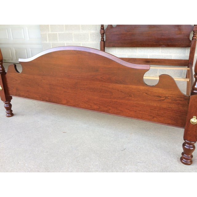 Brown Pennsylvania House Chippendale Style Queen Poster Bed For Sale - Image 8 of 10