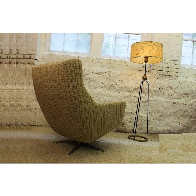 Mid-Century John Stuart Upholstered Chair Ottoman For Sale - Image 5 of 11